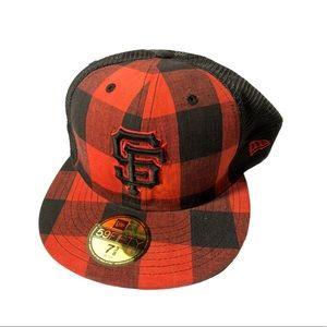 New era lumberjack fish net fitted hat